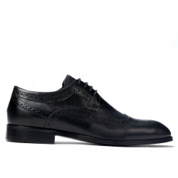 Men stylish, elegant shoes 892m black (large size)