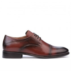 Men stylish, elegant shoes ( large size) 822m a cognac
