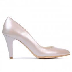 Women stylish, elegant shoes 1234 cappuccino pearl