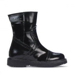 Small children boots 101c patent black