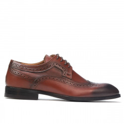 Men stylish, elegant shoes 892m a cognac (large size)