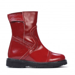 Small children boots 101c patent burgundy