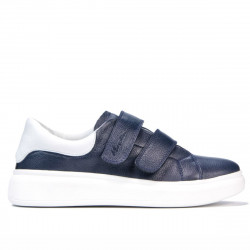 Women sport shoes 6008sc indigo+white