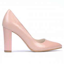 Women stylish, elegant shoes 1261 pudra pearl