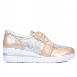 Women casual shoes 6006 pudra combined