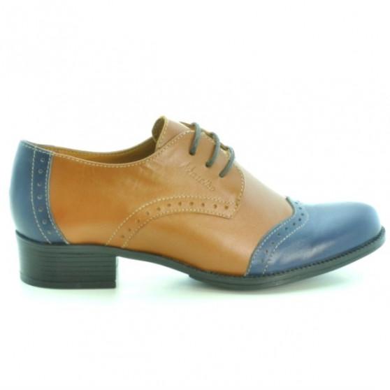 Women casual shoes 691 brown+indigo