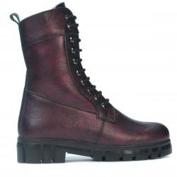 Women boots 3337 bordo pearl