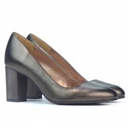 Women stylish, elegant shoes 1273 brown pearl