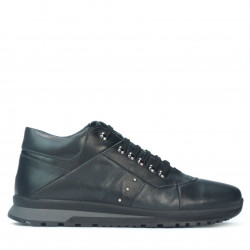 Men casual shoes 4110 black+gray