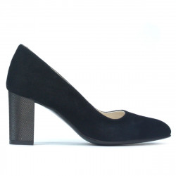 Women stylish, elegant shoes 1273 black antilopa