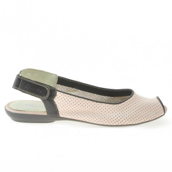 Women sandals 583 pink+cafe