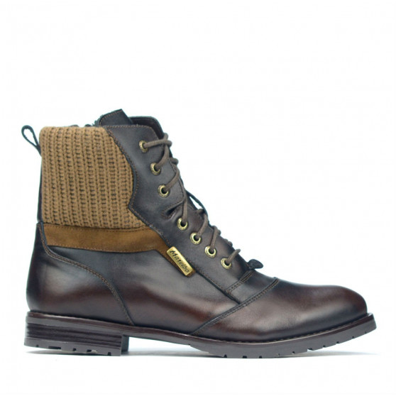Men boots 4118 a brown
