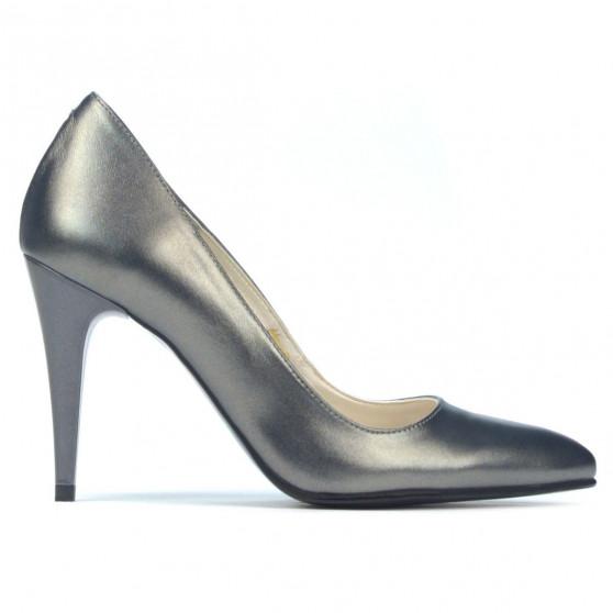 Pantofi eleganti dama 1246 gri metalizat