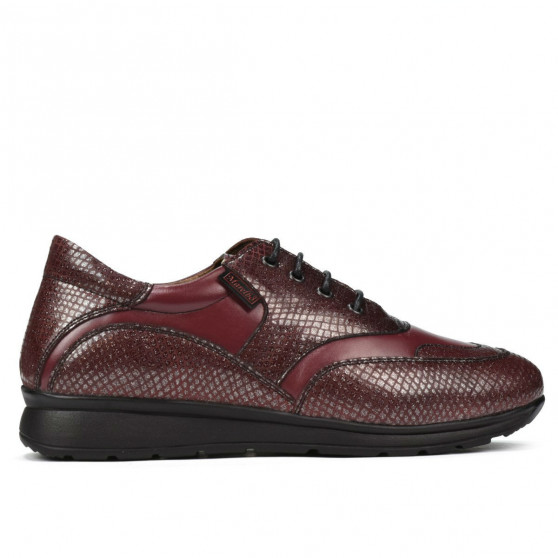 Pantofi sport/casual dama 6005 bordo combinat