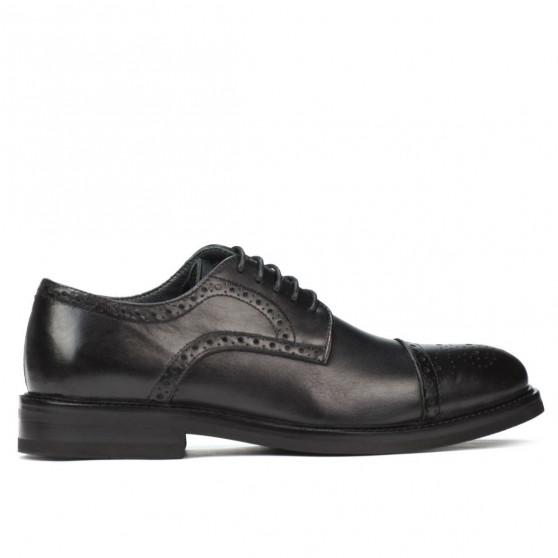 Men stylish, elegant shoes (large size) 896m black
