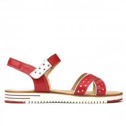 Women sandals 5061 ginger+white
