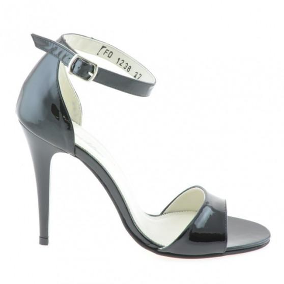 Women sandals 1238 patent black