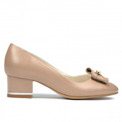 Women stylish, elegant shoes 1270 cappuccino