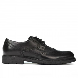 Men stylish, elegant shoes 894 black