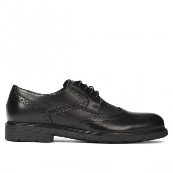 Men stylish, elegant shoes 894 black