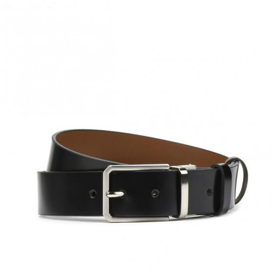 Men belt 35b bicolored black+brown