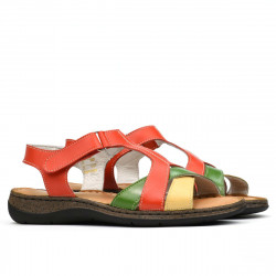 Sandale dama 5046 portocaliu combinat