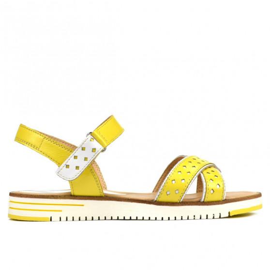 Sandale dama 5061 galben+alb