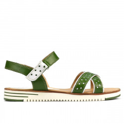 Women sandals 5061 green+white