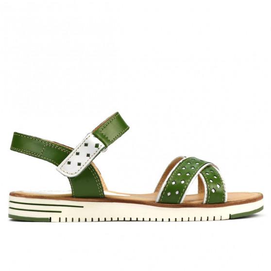 Sandale dama 5061 verde+alb