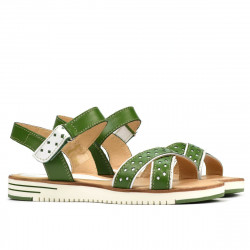 Women sandals 5061 green+white