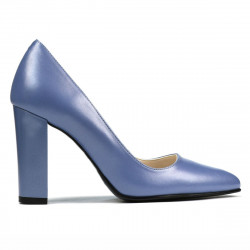 Women stylish, elegant shoes 1261 bleu pearl