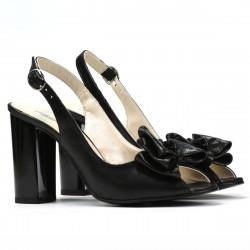 Women sandals 1256 black satinat