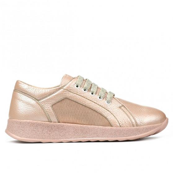 Pantofi sport/casual dama 6010 pudra sidef combinat