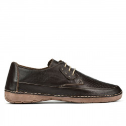 Women loafers, moccasins 672m cafe