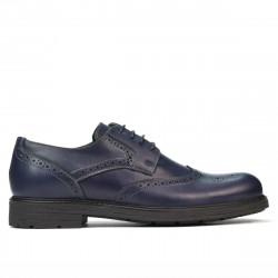 Men stylish, elegant shoes 894 indigo