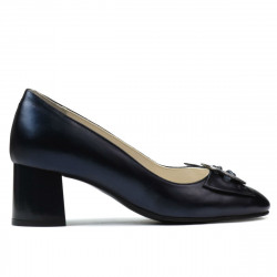 Women stylish, elegant shoes 1274 indigo pearl