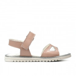 Children sandals 527 pudra pearl
