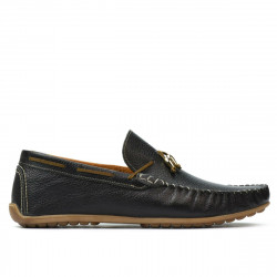 Men loafers, moccasins 863 black