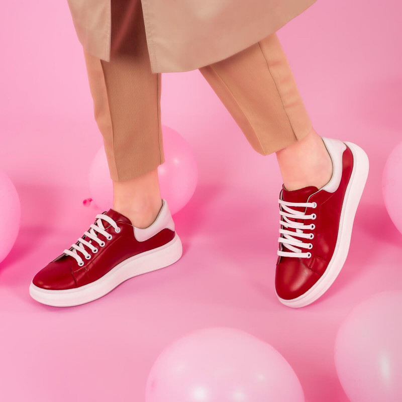 Pantofi sport dama 6008 rosu lifestyle