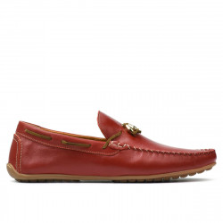 Men loafers, moccasins 863 red