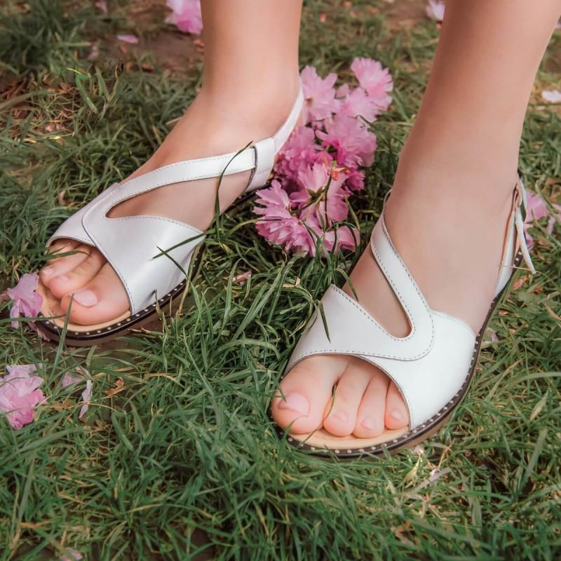 Sandale dama 5059 alb lifestyle