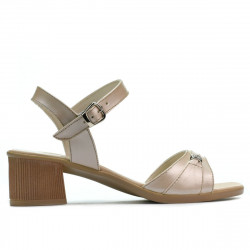 Women sandals 5066 beige pearl