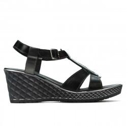Sandale dama 5065 negru combinat