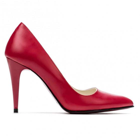 Women stylish, elegant shoes 1246 red