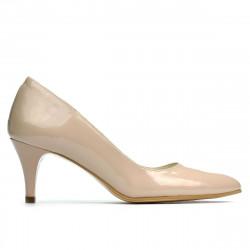 Women stylish, elegant shoes 1242 patent beige pearl