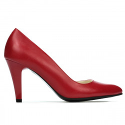 Women stylish, elegant shoes 1234 red