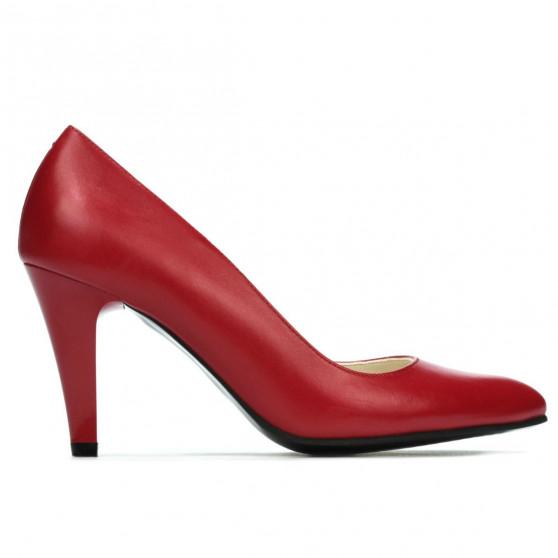 Women stylish, elegant shoes 1234 red