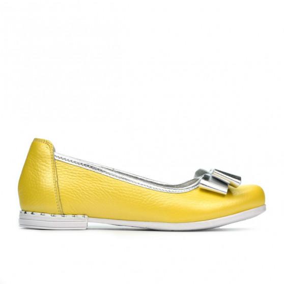 Pantofi copii 174 galben sidef combinat