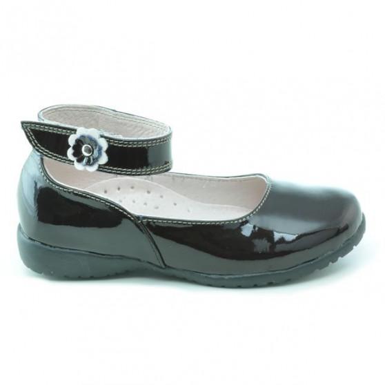 Pantofi copii mici 17c lac cafe