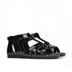 Small children sandals 66c patent black